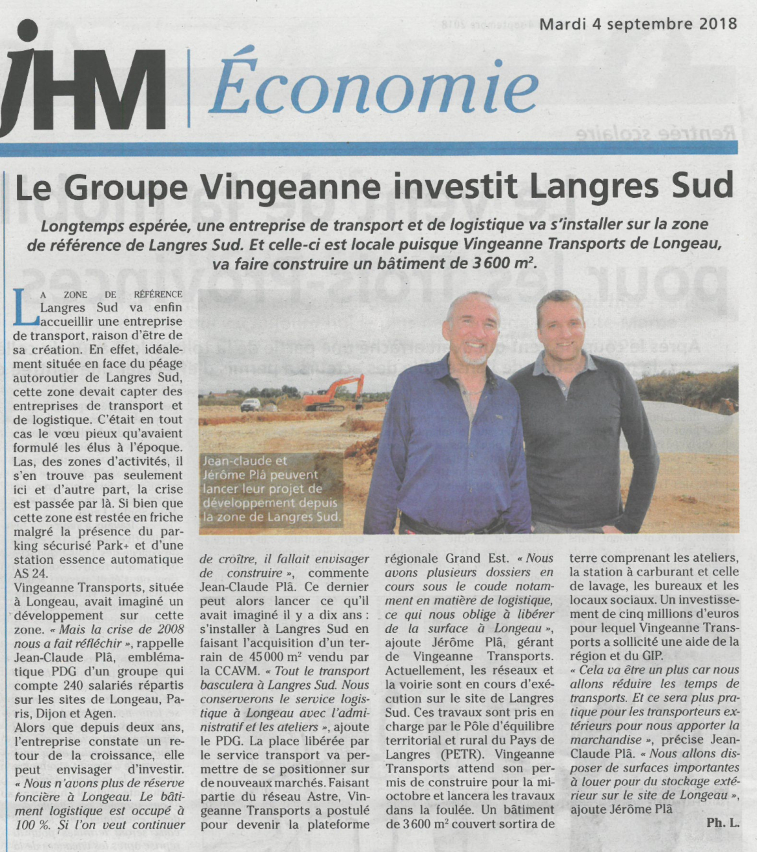 Le groupe Vingeanne investit Langres Sud